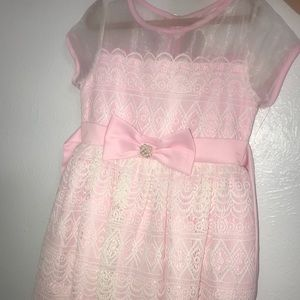 Pink & white laced dress from dillards